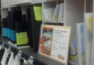 Product on store shelf
